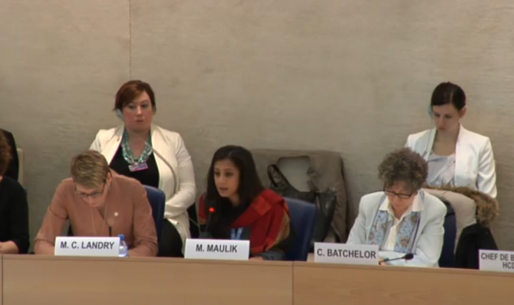 Global Coalition Presentation at UN Human Rights Council