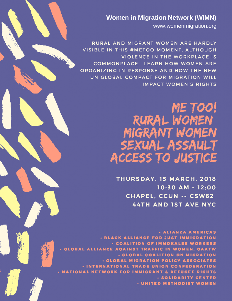 #MeToo: Rural Women, Migrant Women, Sexual Assault, Access to Justice