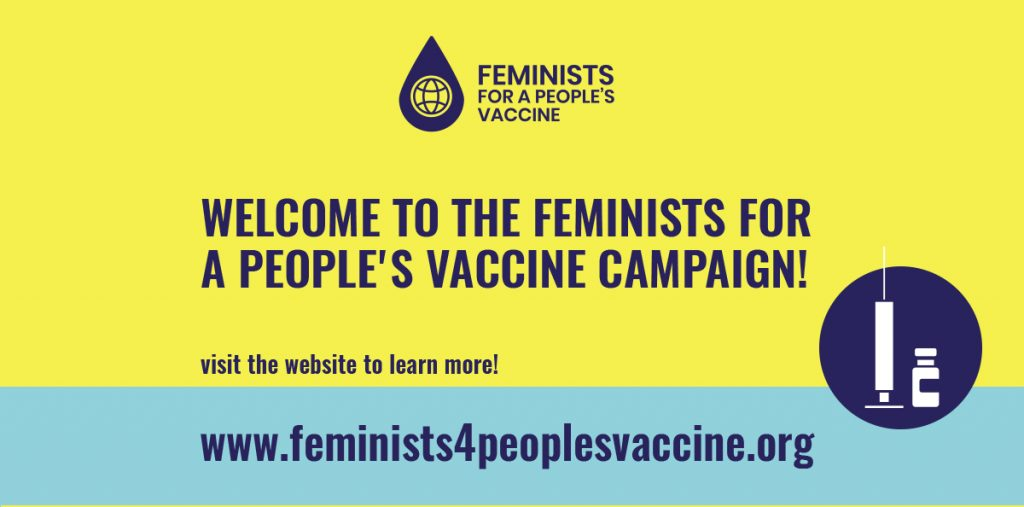 WIMN joins Feminists for a People's Vaccine Campaign